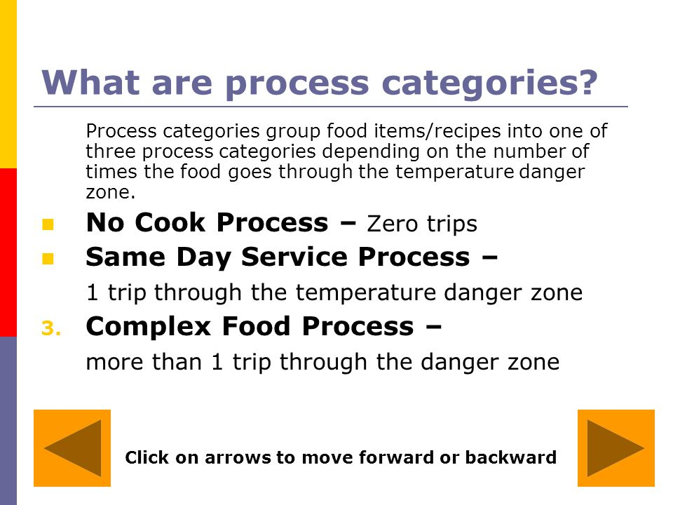 What are process categories
