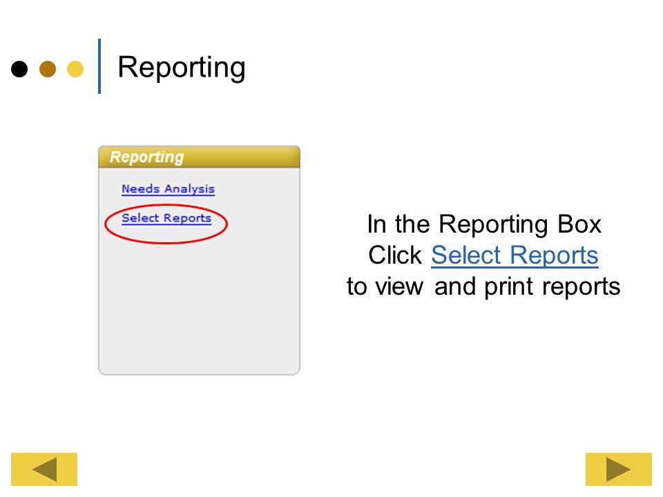 to view and print reports
