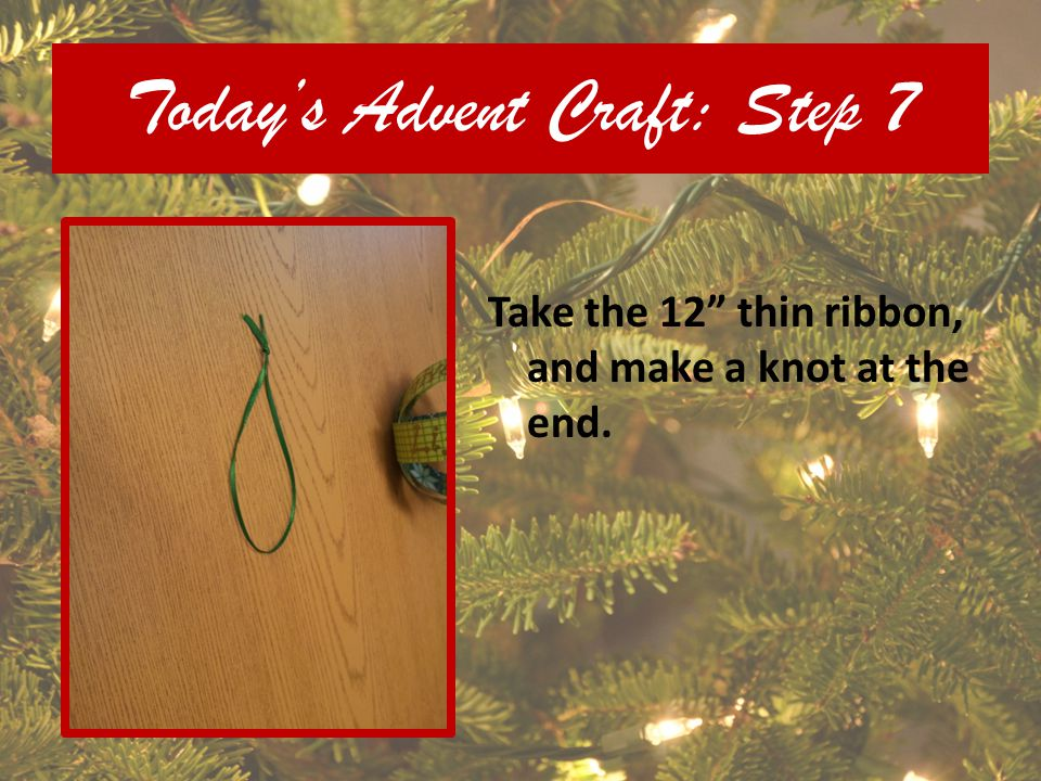 Today's Advent Craft: Step 7