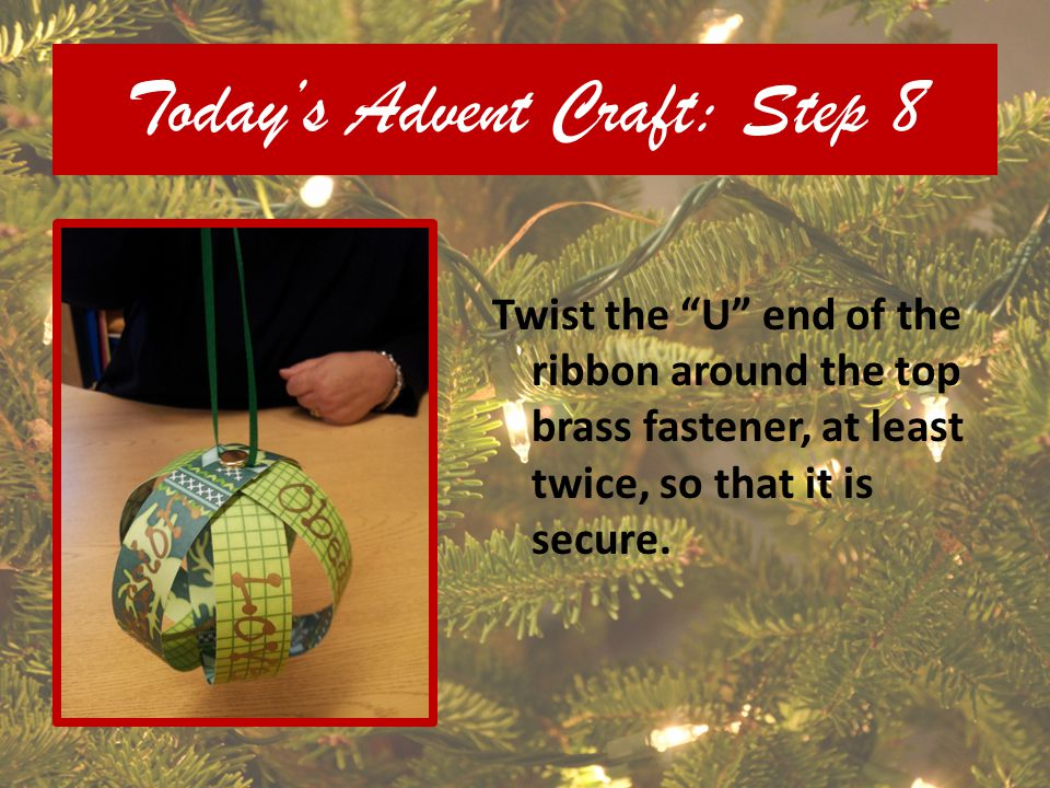 Today's Advent Craft: Step 8