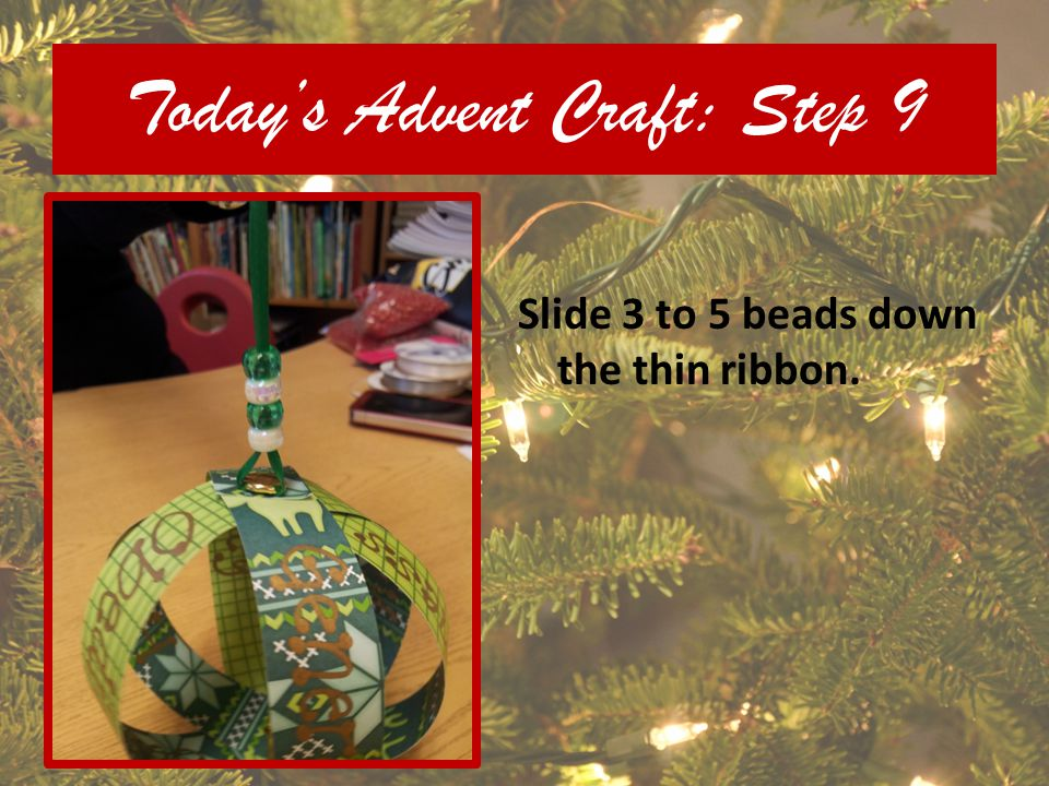 Today's Advent Craft: Step 9