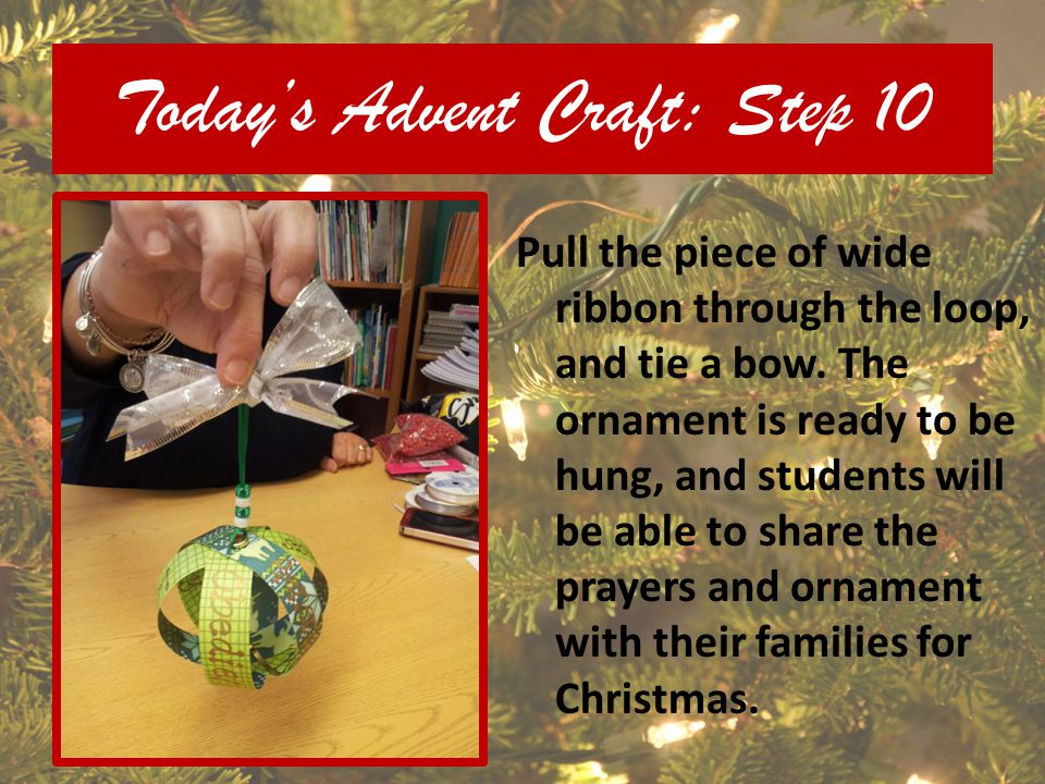 Today's Advent Craft: Step 10