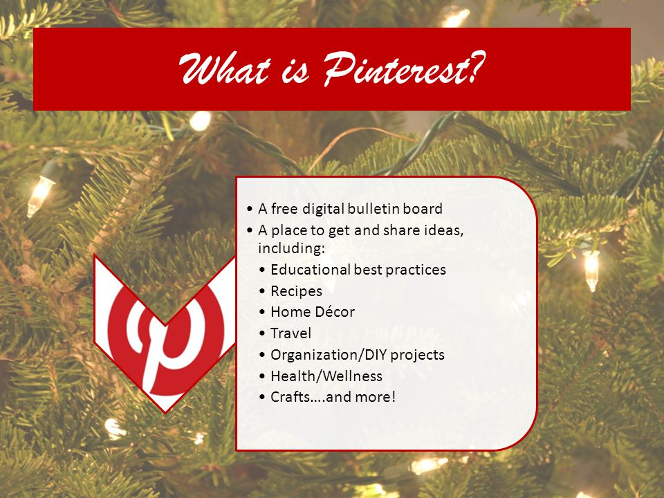 What is Pinterest A free digital bulletin board