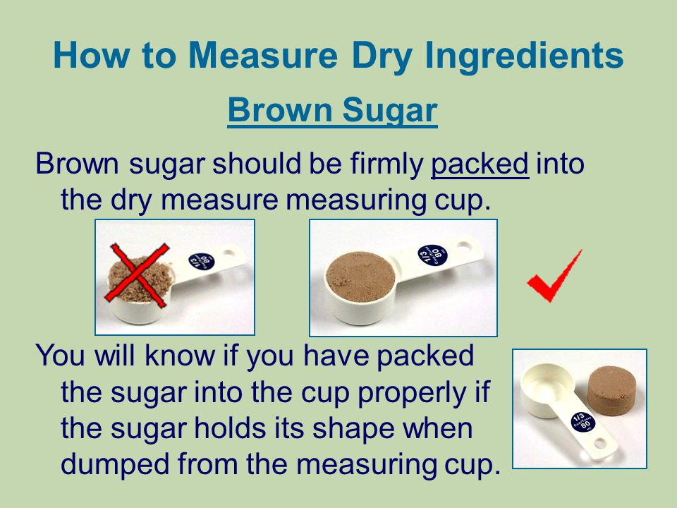 How to Measure Dry Ingredients