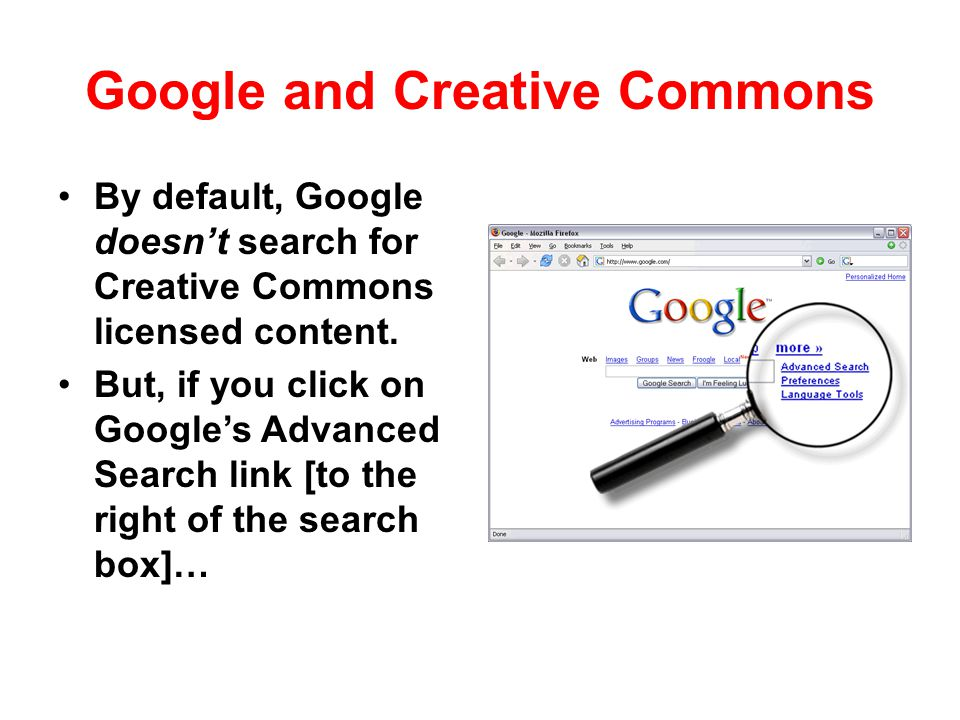 Google and Creative Commons
