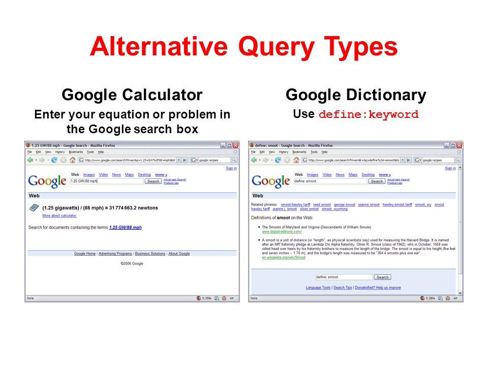 Alternative Query Types