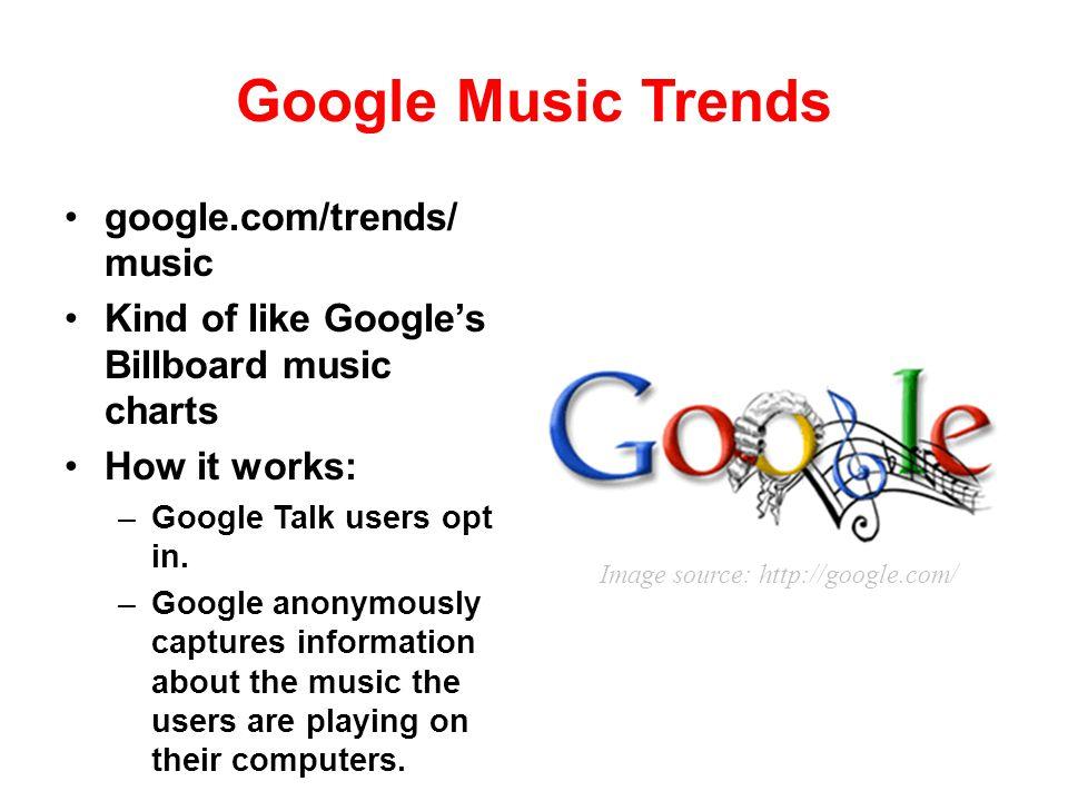 Google Music Trends google.com/trends/ music