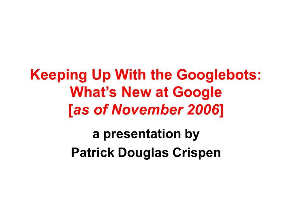 a presentation by Patrick Douglas Crispen