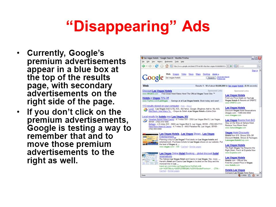 Disappearing Ads