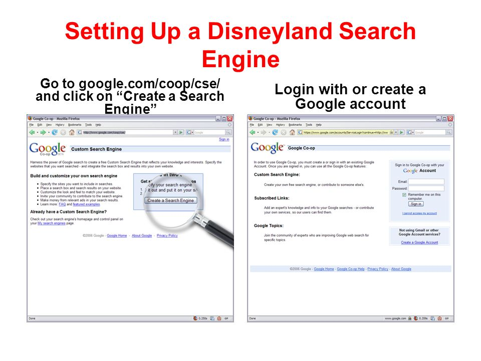Setting Up a Disneyland Search Engine