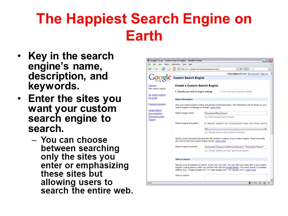 The Happiest Search Engine on Earth
