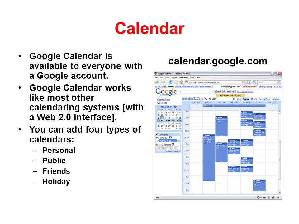 Calendar calendar.google.com