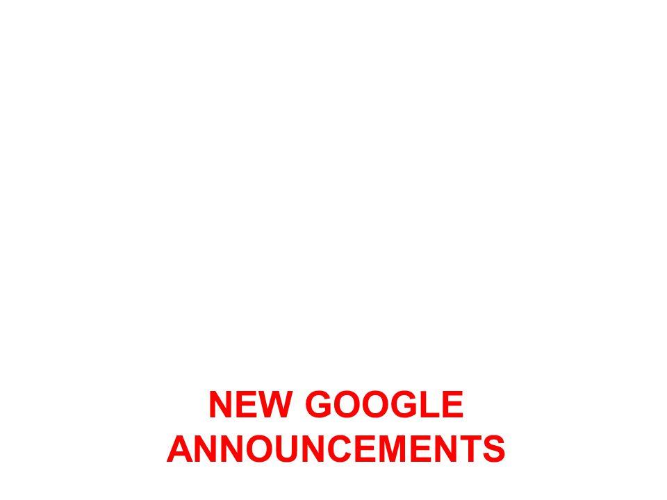 New google ANNOUNCEMENTS