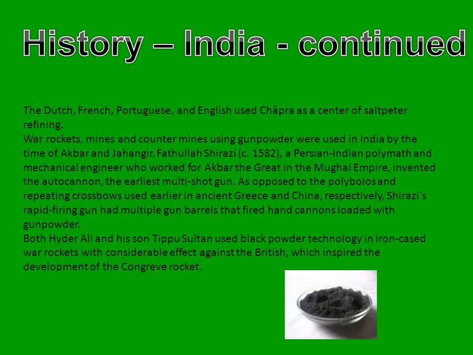 History – India - continued