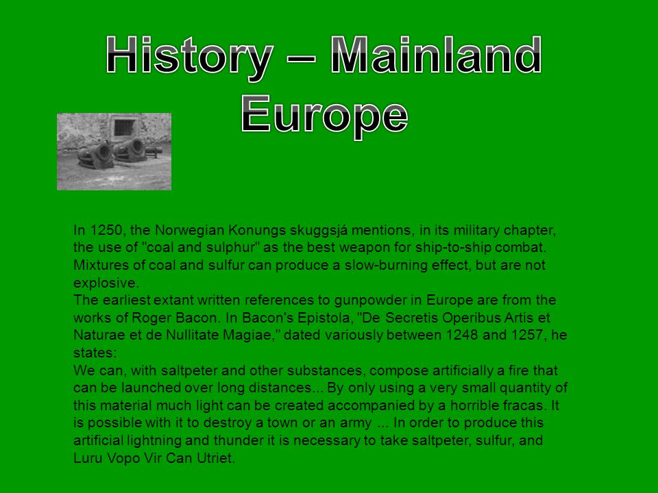 History – Mainland Europe