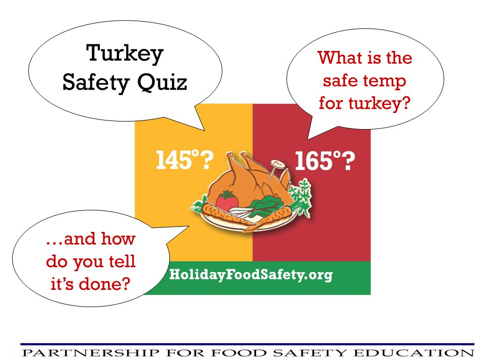 Turkey Safety Quiz What is the safe temp for turkey