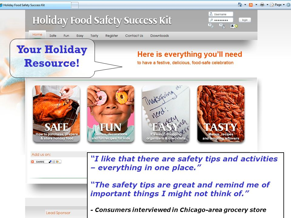 Your Holiday Resource! I like that there are safety tips and activities – everything in one place.
