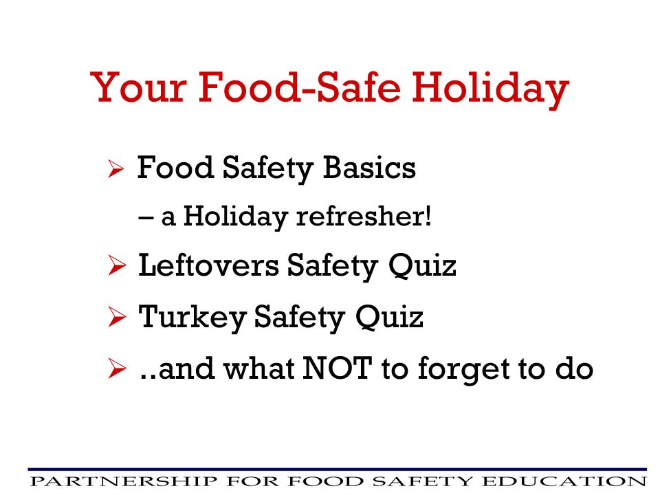 Your Food-Safe Holiday