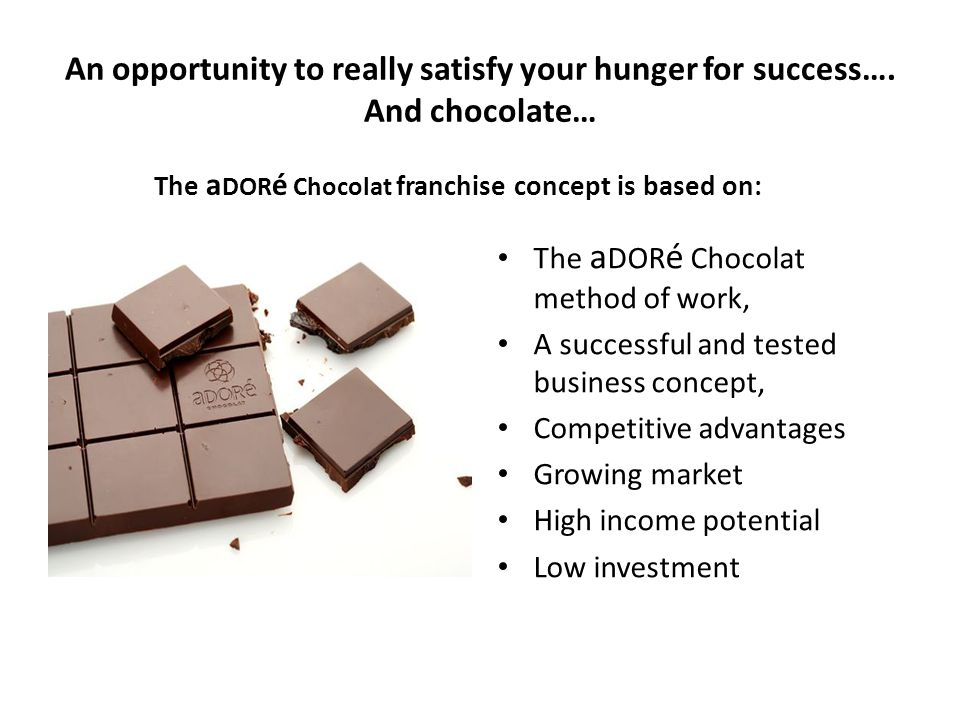 An opportunity to really satisfy your hunger for success…