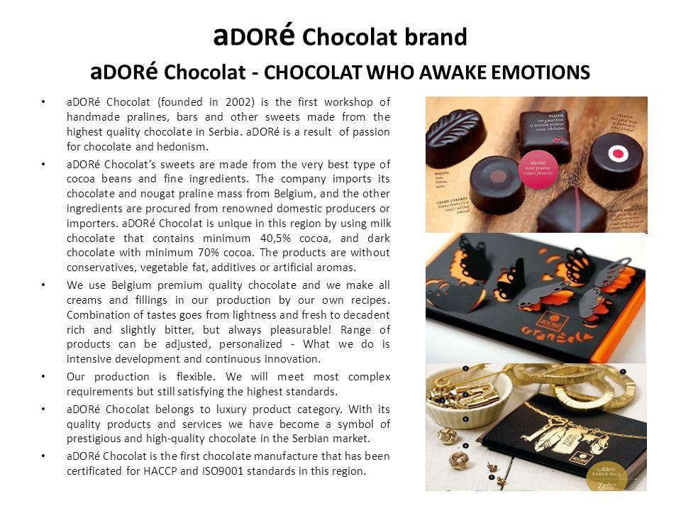 aDORé Chocolat brand aDORé Chocolat - CHOCOLAT WHO AWAKE EMOTIONS