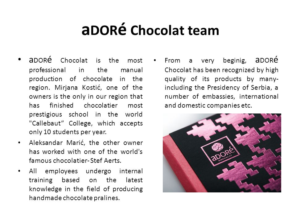 aDORé Chocolat team