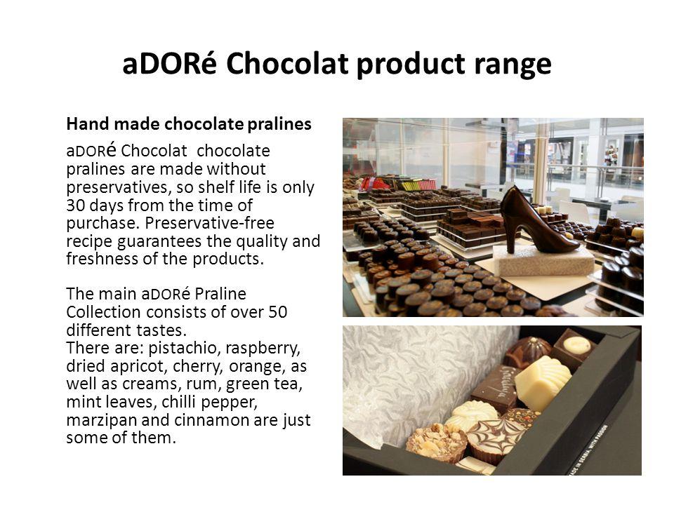 aDORé Chocolat product range