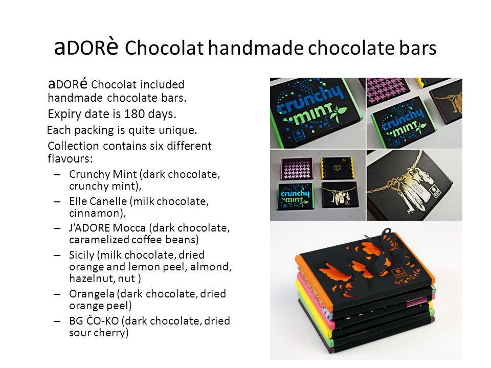 aDORè Chocolat handmade chocolate bars