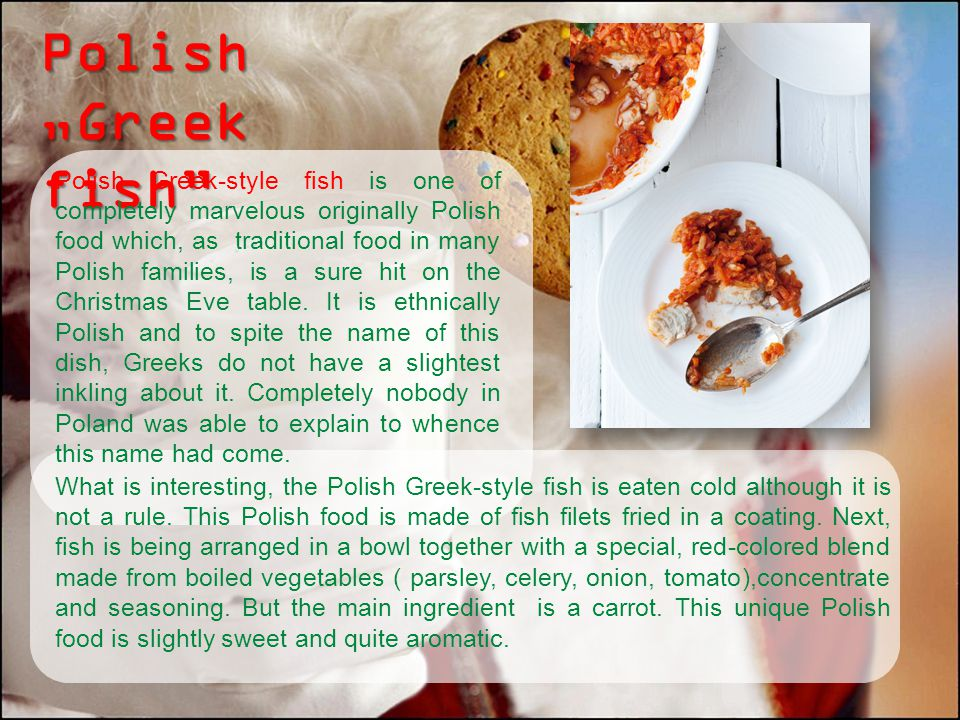 "Polish ""Greek fish"