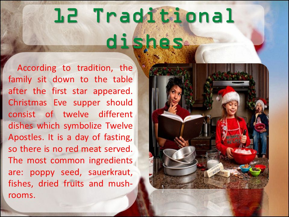 12 Traditional dishes