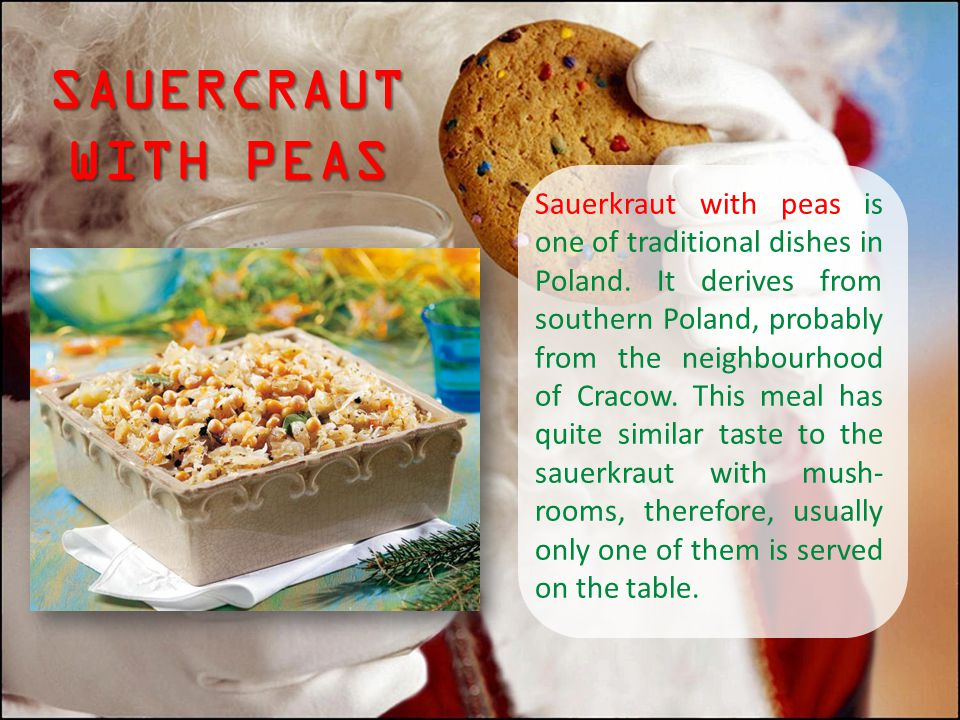 SAUERCRAUT WITH PEAS