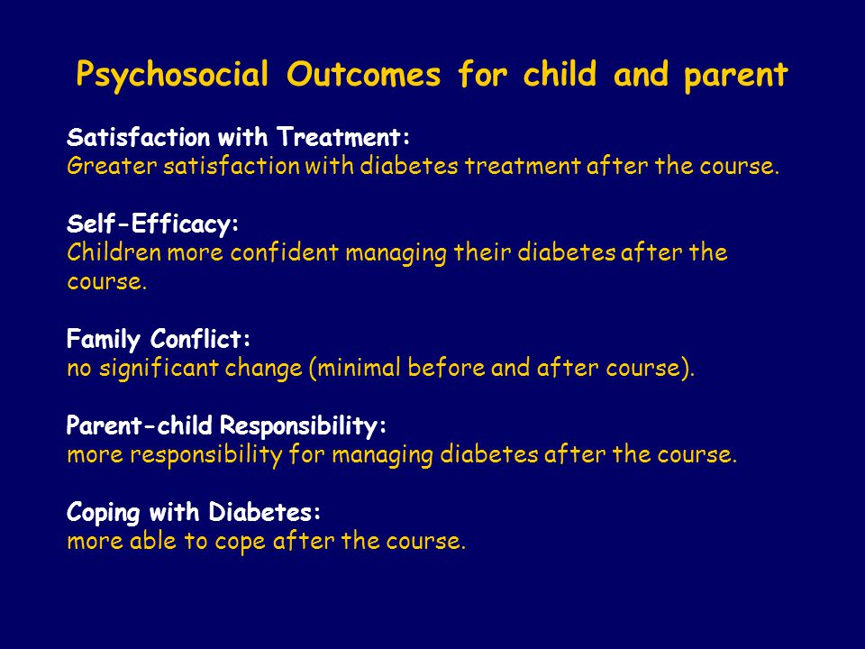 Psychosocial Outcomes for child and parent