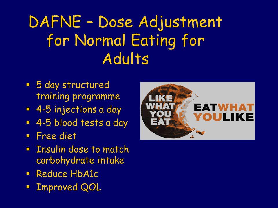 DAFNE – Dose Adjustment for Normal Eating for Adults