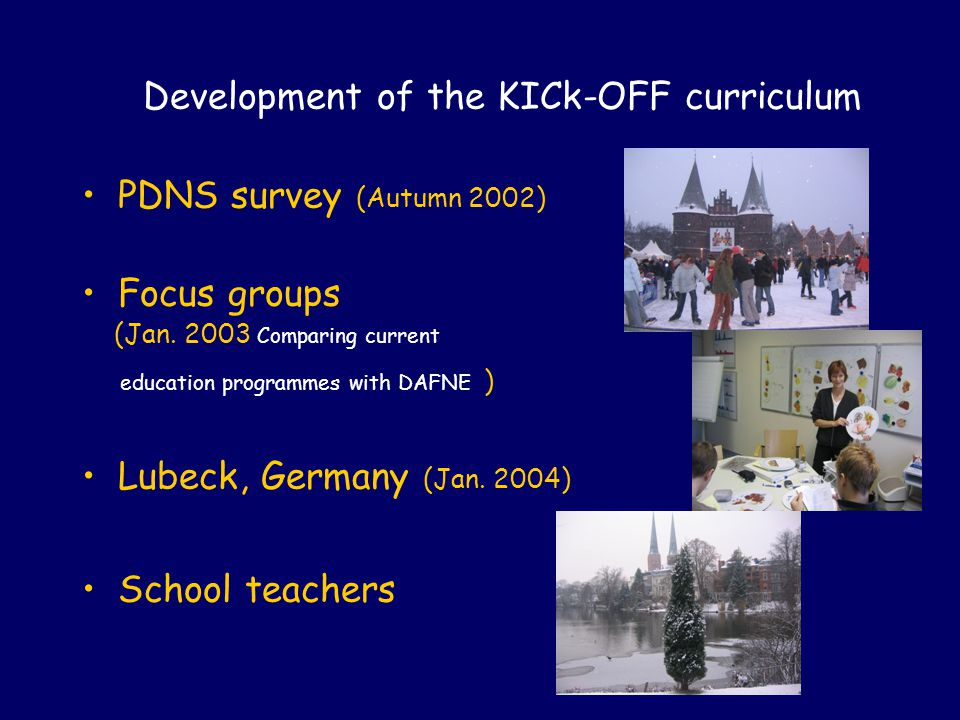 Development of the KICk-OFF curriculum