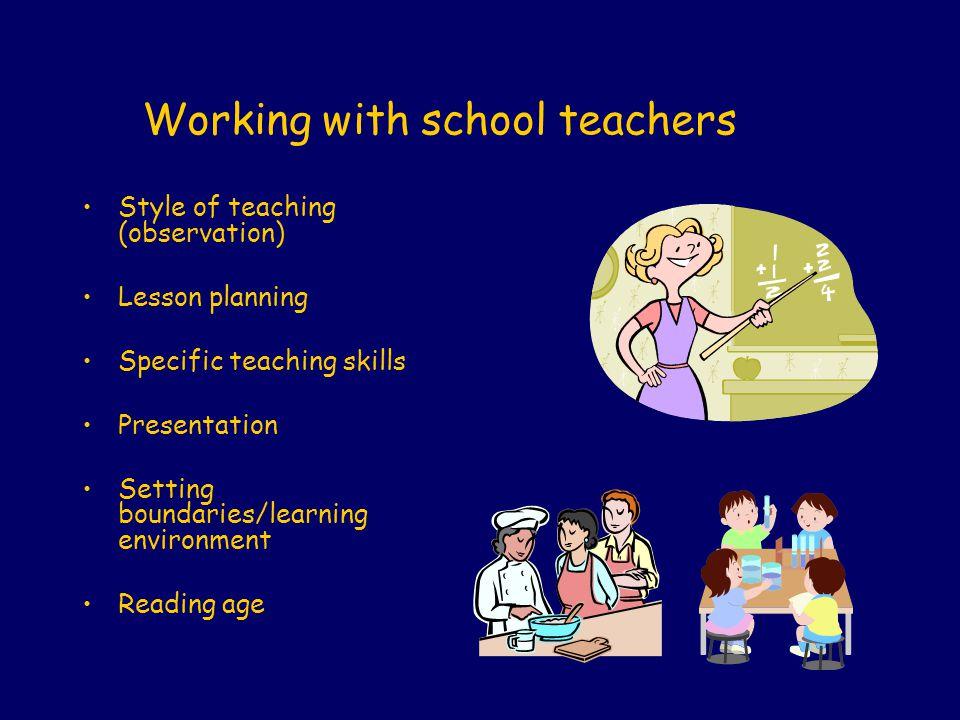 Working with school teachers