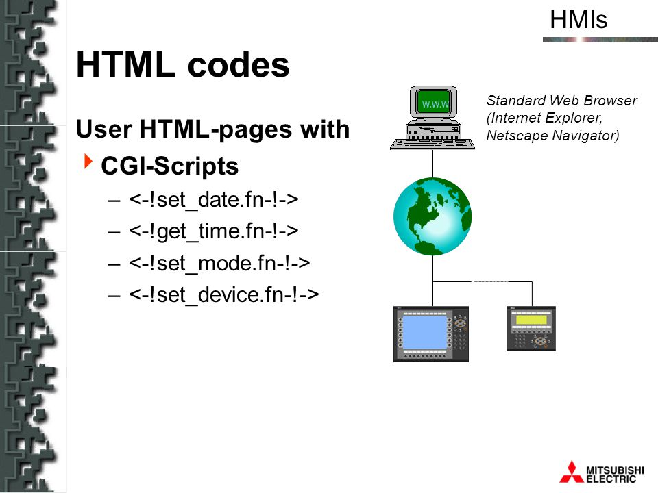 HTML codes User HTML-pages with CGI-Scripts <-!set_date.fn-!->