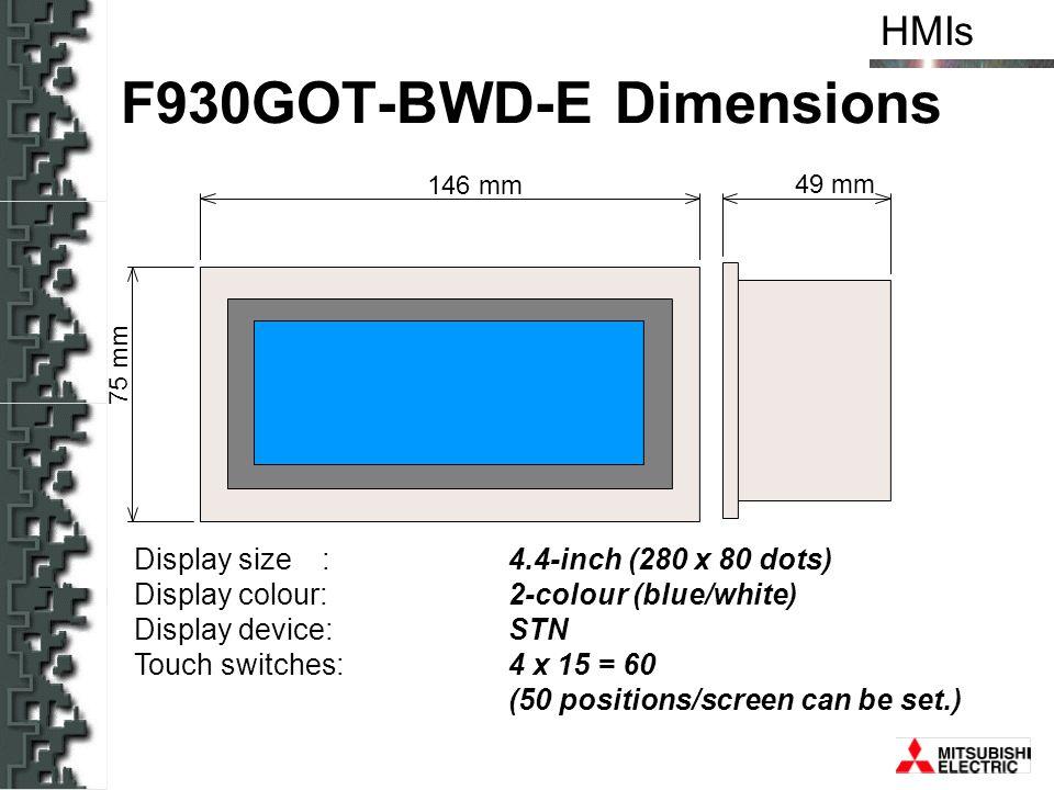 F930GOT-BWD-E Dimensions
