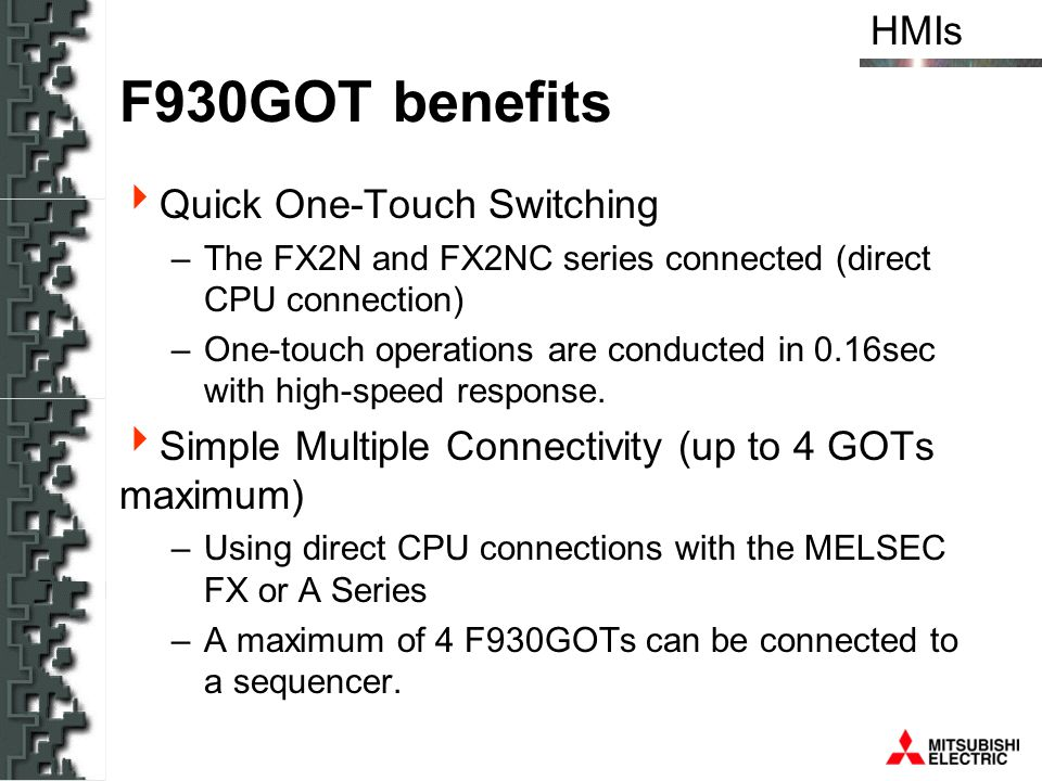 F930GOT benefits Quick One-Touch Switching