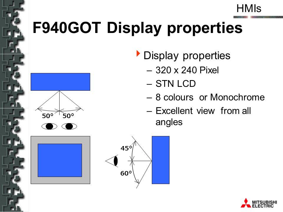 F940GOT Display properties