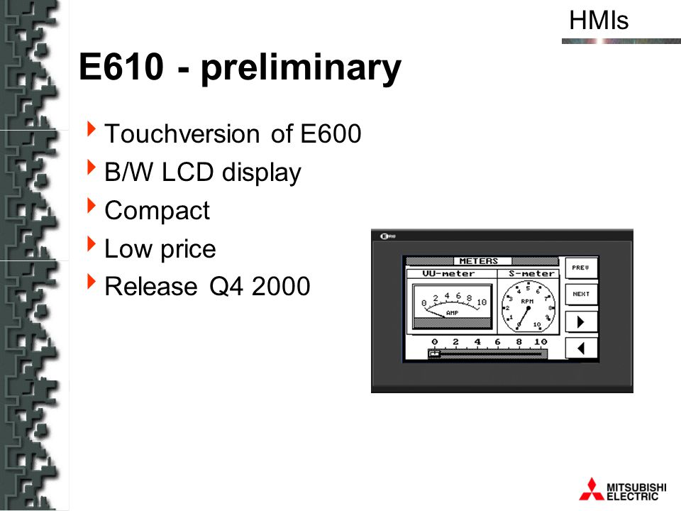 E610 - preliminary Touchversion of E600 B/W LCD display Compact