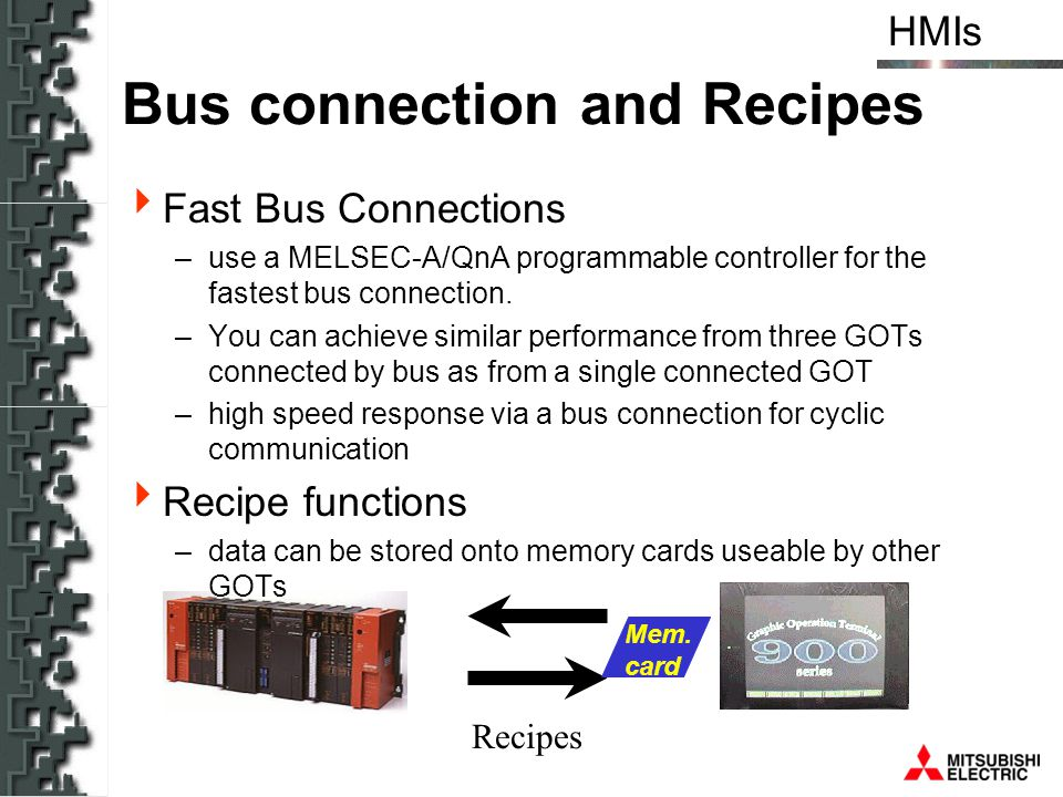 Bus connection and Recipes