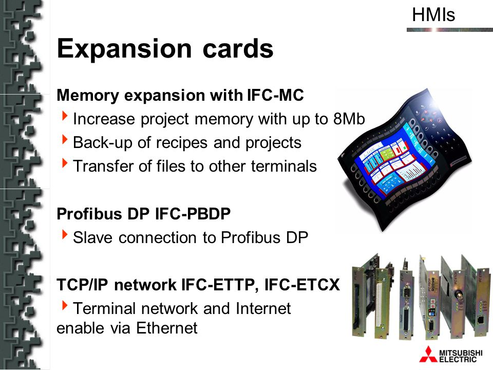 Expansion cards Memory expansion with IFC-MC