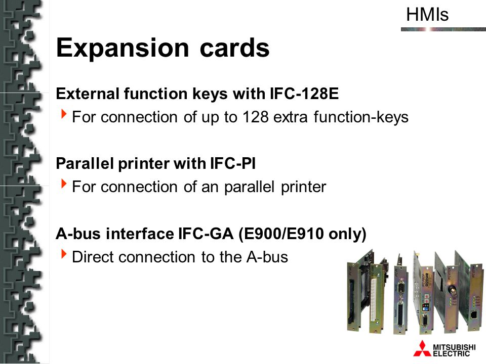 Expansion cards External function keys with IFC-128E