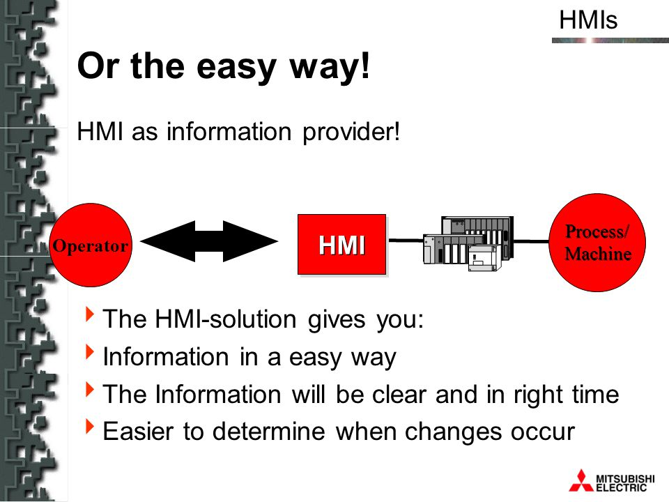 Or the easy way! HMI as information provider!