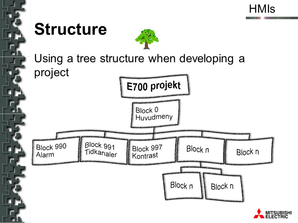 Structure Using a tree structure when developing a project