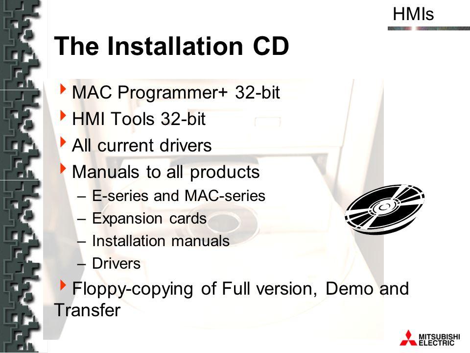 The Installation CD MAC Programmer+ 32-bit HMI Tools 32-bit