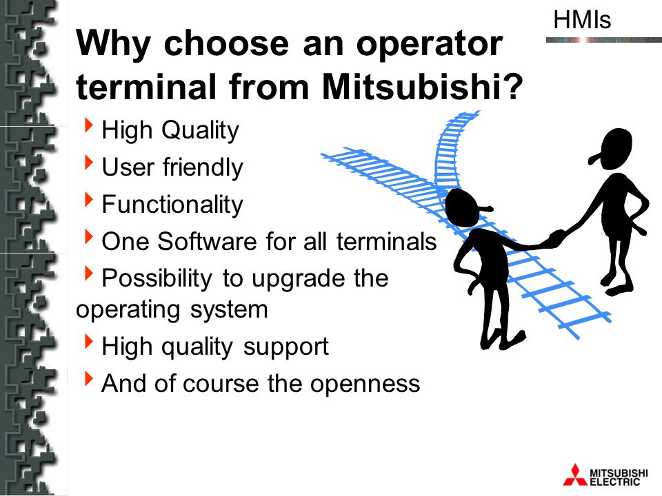 Why choose an operator terminal from Mitsubishi