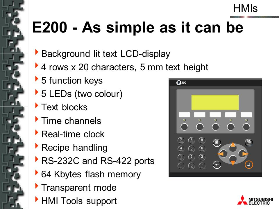 E200 - As simple as it can be Background lit text LCD-display