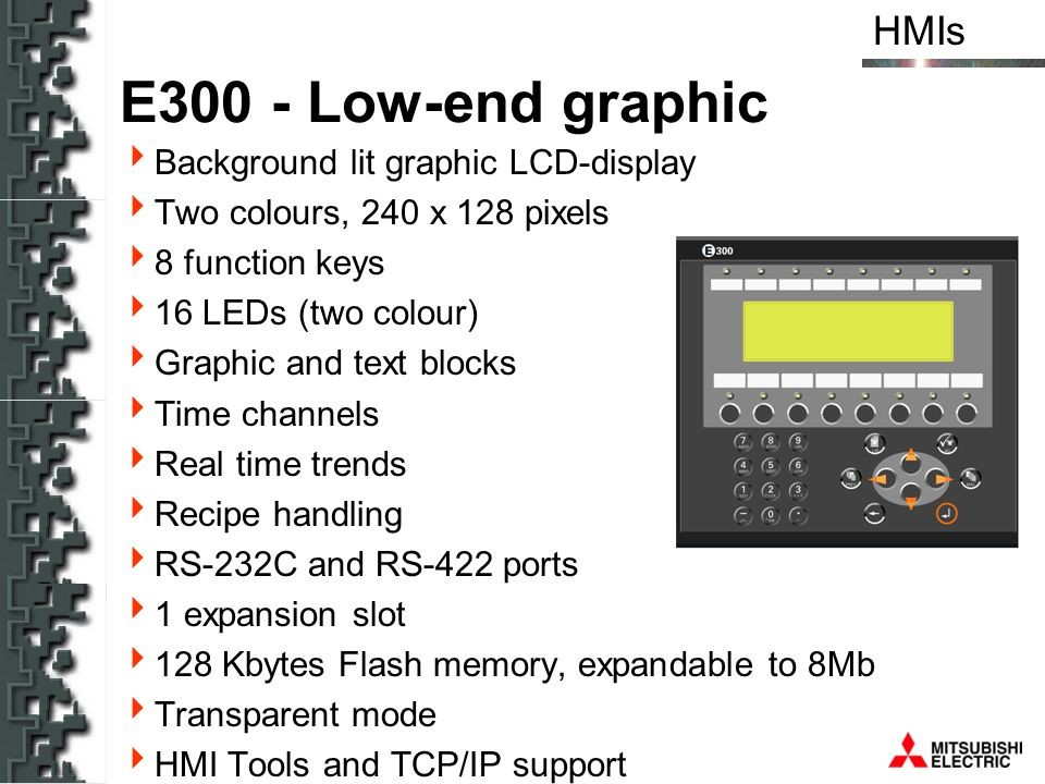 E300 - Low-end graphic Background lit graphic LCD-display