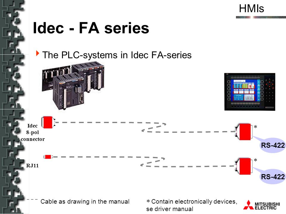Idec - FA series The PLC-systems in Idec FA-series RS-422 RS-422