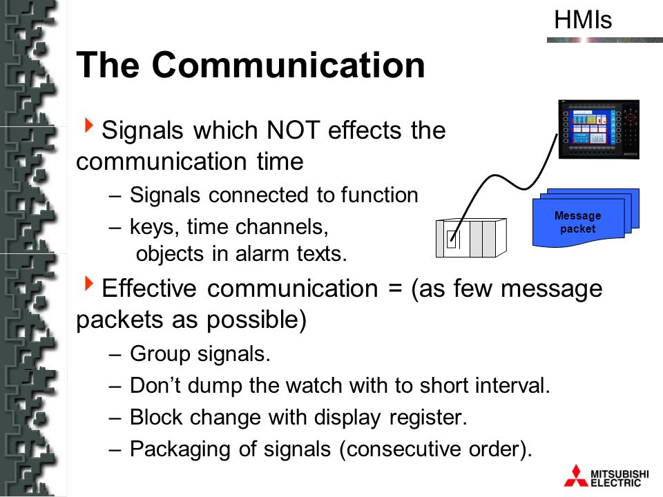 The Communication Signals which NOT effects the communication time